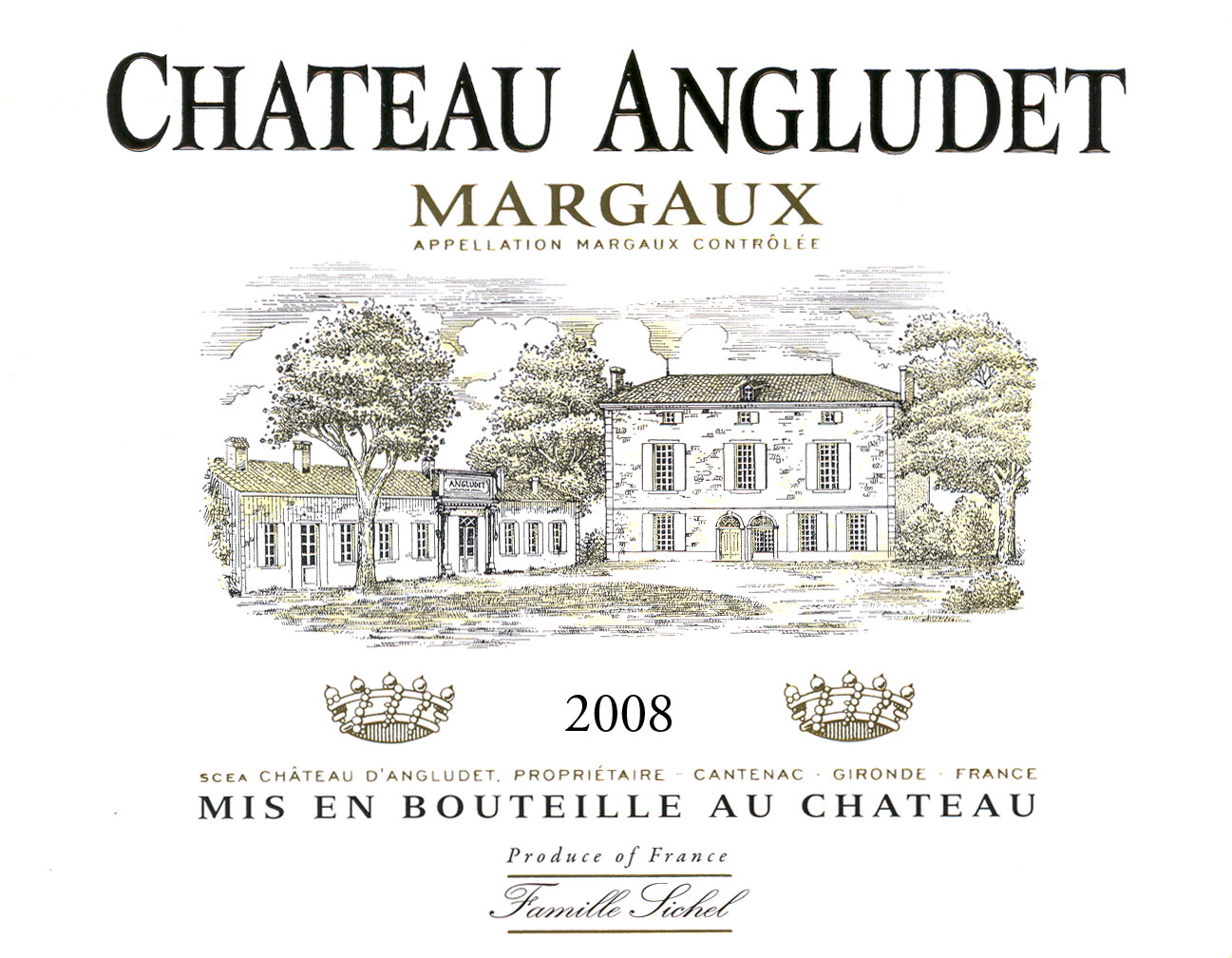 Château Angludet AOC Margaux Red 2008