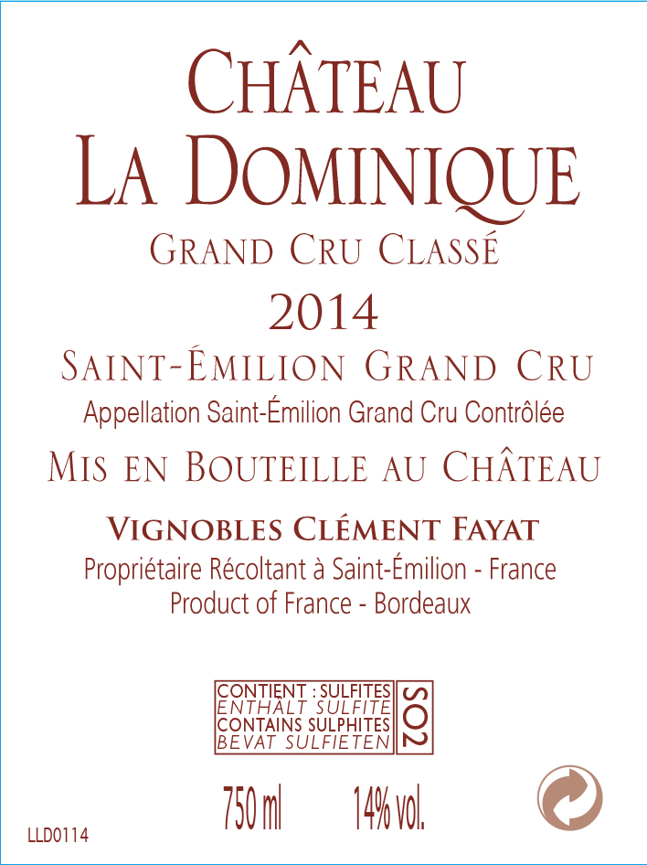 Château La Dominique AOC Saint-Emilion Grand Cru Red 2014