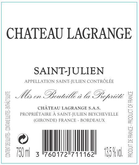 Château Lagrange AOC Saint-Julien Red 2016