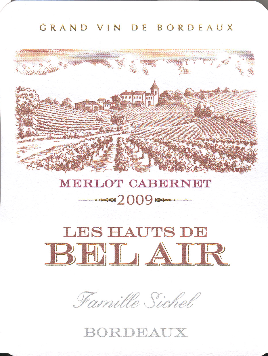 Les Hauts de Bel Air AOC Bordeaux Red 2009