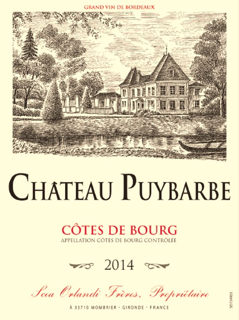 Chateau Puybarbe(普伊博酒庄) AOC 布尔山坡(Cotes de Bourg) 红葡萄酒 - red 2014
