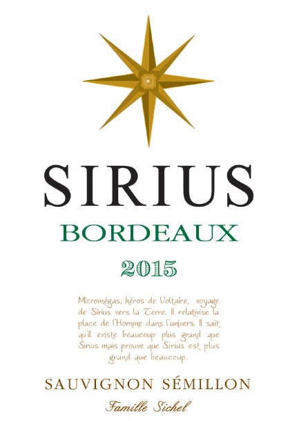 Sirius AOC Bordeaux White 2015
