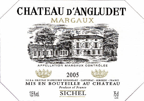 Château Angludet (d') AOC Margaux Red 2005