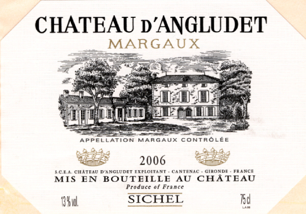 Chateau Angludet (d')(昂格吕黛酒庄) AOC 玛尔戈(Margaux) 红葡萄酒 2006