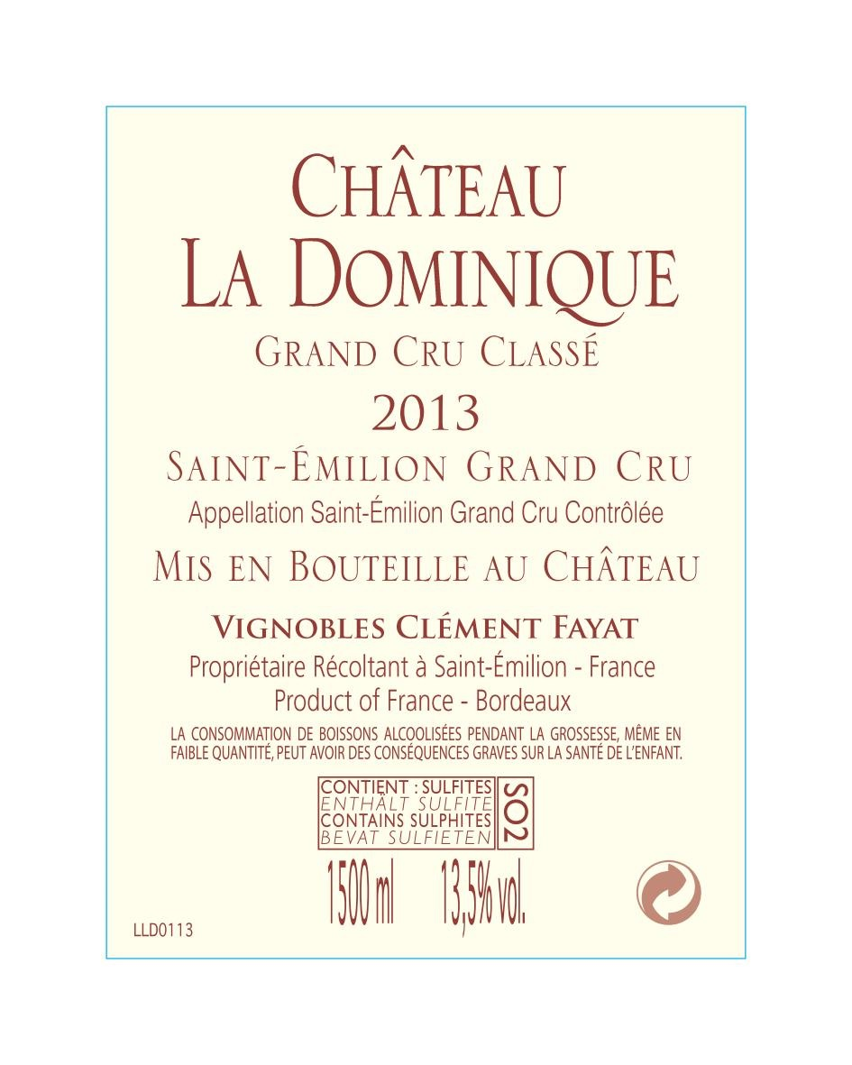 Château La Dominique AOC Saint-Emilion Grand Cru Red 2013