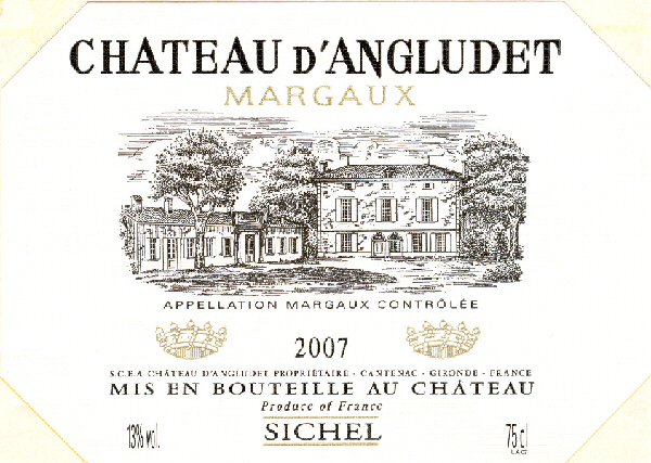 Château Angludet (d') AOC Margaux Red 2007