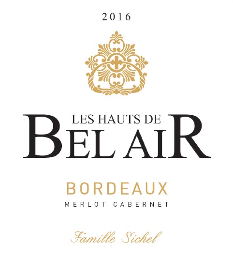 Les Hauts de Bel Air AOC Bordeaux Red 2016