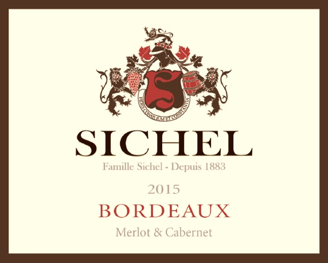 Bordeaux Sichel AOC Bordeaux Red 2015