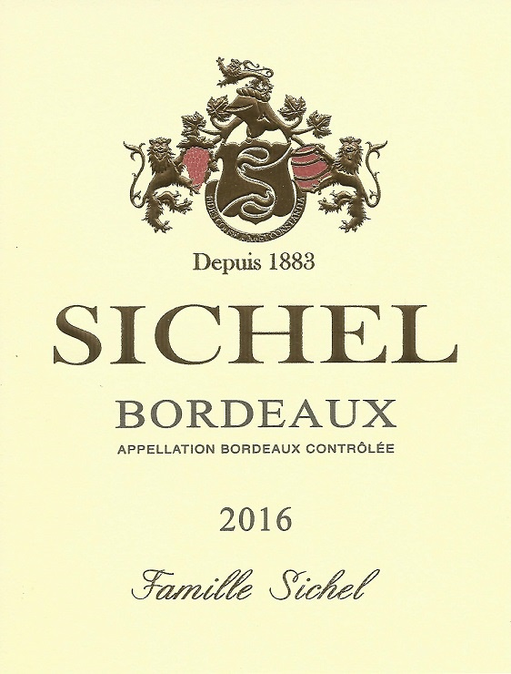 Bordeaux Sichel AOC Bordeaux Red 2016
