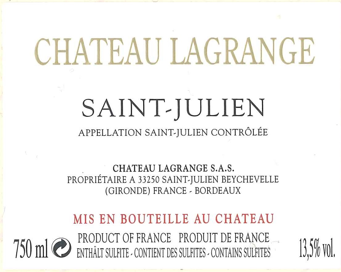 Château Lagrange AOC Saint-Julien Red 2015