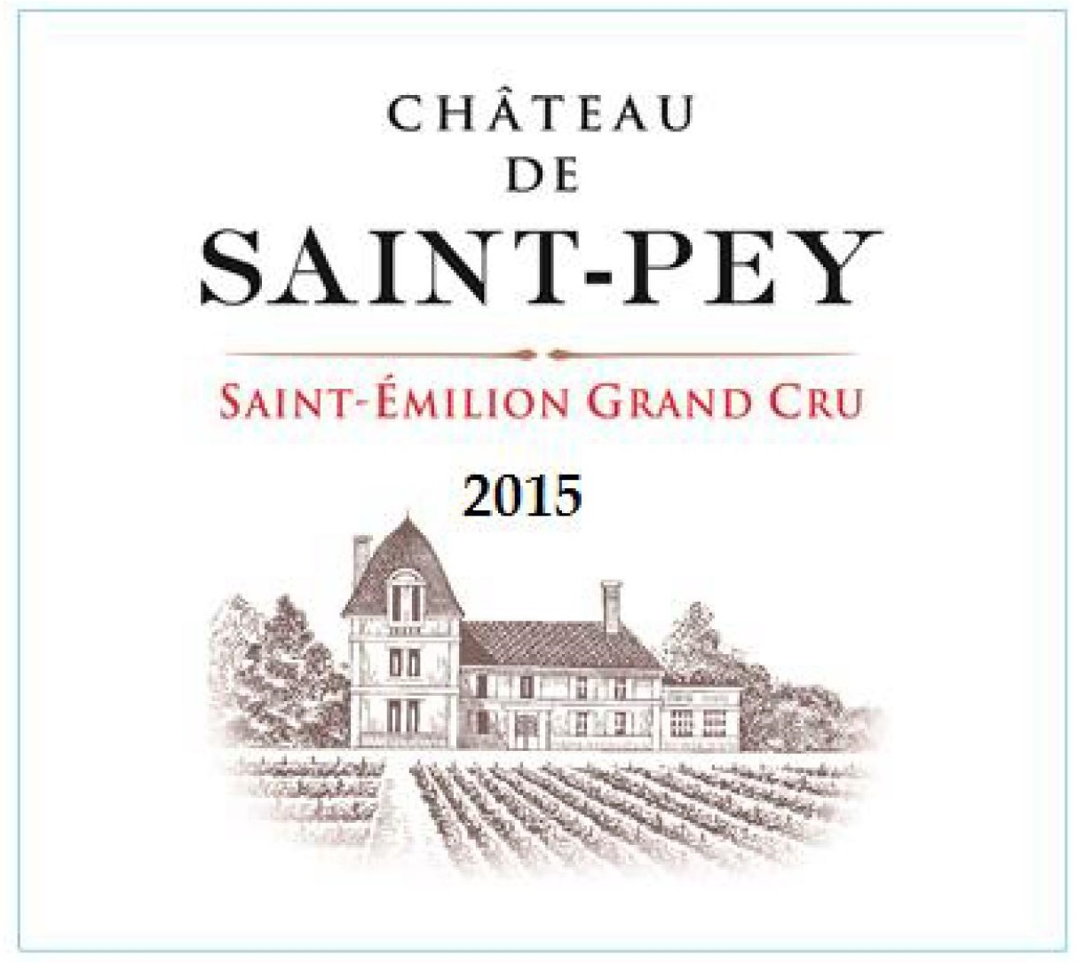 Château de Saint-Pey AOC Saint-Emilion Grand Cru Red 2015