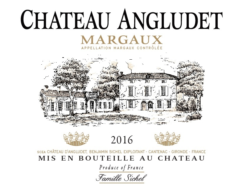 Château Angludet AOC Margaux Rouge 2016