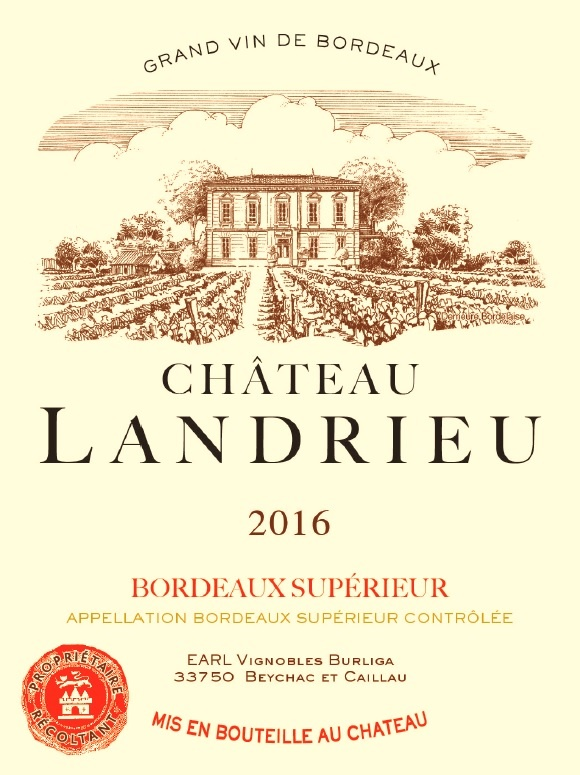 Chateau Landrieu(朗德勒酒庄) AOC 优级波尔多(Bordeaux Superieur) 红葡萄酒-Red 2016